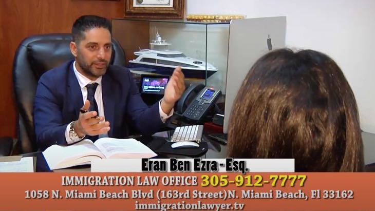 Eran Ben Ezra-Esq Top Immigration lawyer in Miami FL.As seen on T.V., Ivy league top attorney.